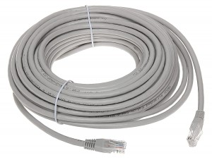 Patchcord UTP cat.5e, 25m szary