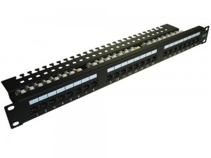 "Patch panel 24-port UTP6 1U 19"" złącza krone LSA"